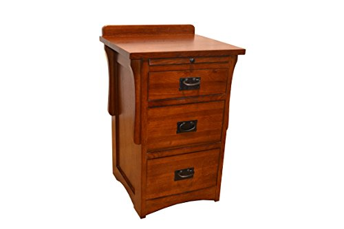 Crafters & Weavers Arts and Crafts Mission Quarter Sawn Oak Three Drawer Nightstand / Oak End Table