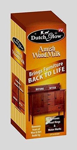 ****12oz Dutch Glow AMISH WOOD MILK Brings Back Restores Cleans Furniture TV DFG