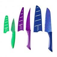 Kai Pure Komachi Kitchen Knife Set – 3 Piece Stainless Steel – Paring Knife, Serrated Knife and Santoku