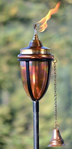 H Potter Copper Rustic Tiki Torch