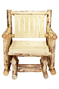 Montana Woodworks Montana Collection Single Seat Glider, Clear Exterior Finish