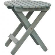 Shine Company Rustic Round Folding Table, Dutch Blue