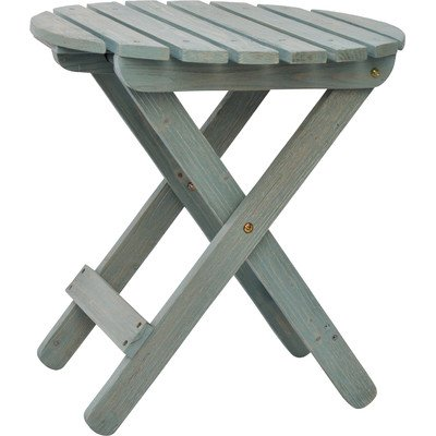 Shine Company Rustic Round Folding Table, Dutch Blue