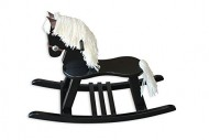 FireSkape Amish Crafted Solid Maple Black Finished Pony Rocking Horse with White Mane