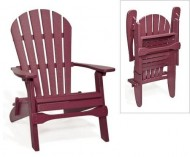 Poly Folding Adirondack Chair (Burgundy)