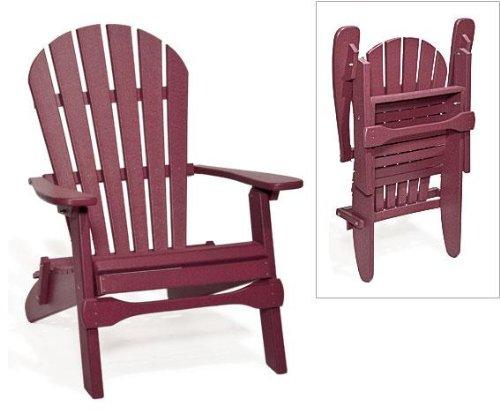 Poly Folding Adirondack Chair (Burgundy)