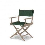 Telescope Casual World Famous Dining Height Director Chair, Rustic Grey Finish with Forest Green Cover