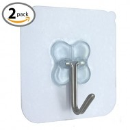 HOMEE Meike Heavy Duty Stainless Steel Hook Solid Glue With No Traces for Bathroom Kitchen Wall (2)