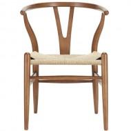 Hans Wegner Amish Walnut Wishbone Y Dining Chair