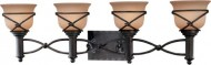 Minka Lavery 5974-1-138, Aspen II Reversible Glass Wall Vanity Lighting, 4 Light, 400 Watts, Bronze