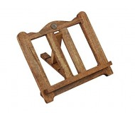 Wooden Cookbook Stand and Document Holder Hand Carved with Rustic Finish