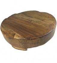 Rustic Reclaimed Wood Round Trivet (Small (8″ Diameter))