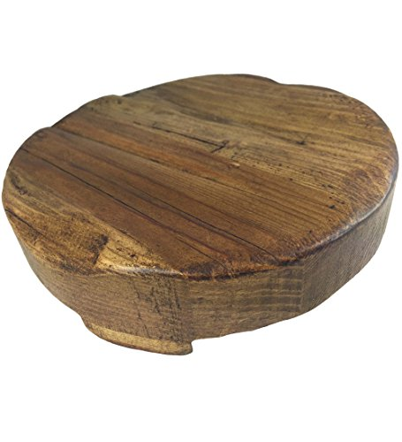 Rustic Reclaimed Wood Round Trivet (Small (8″ Diameter))