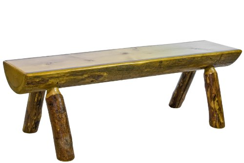 Montana Woodworks Glacier Country Collection Half Log Bench, 5-Feet