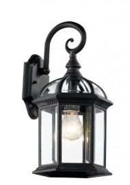 Trans Globe Lighting 4181 BK 15-3/4-Inch 1-Light Outdoor Wall Lantern, Black