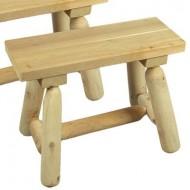 Cedarlooks 030019A Log Straight Bench, 2-Feet- 2 benches per box
