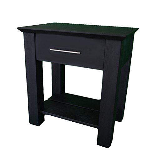 Secret Compartment Nightstand Type 2 (Diversion Safe) with Magnetic Lock & Key (Black Enamel With Handle)
