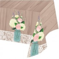 Rustic Wedding Plastic Tablecloth