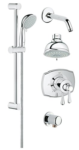 Grohe 35053000 GrohFlex Authentic PBV Shower Set with Shower head and Hand shower