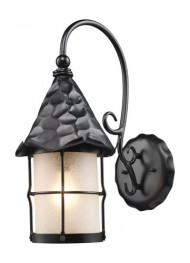 ELK 385-BK, Rustica Outdoor Wall Sconce Lighting, Matte Black