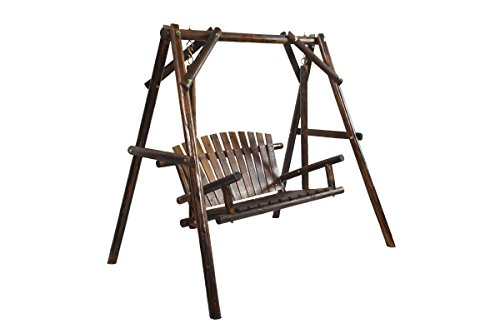 American Furniture Classics Log Swing, Burnt