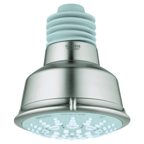 Grohe 27 126 EN0 Relexa 5 Spary Pattern Rustic Shower Head, Infinity Brushed Nickel