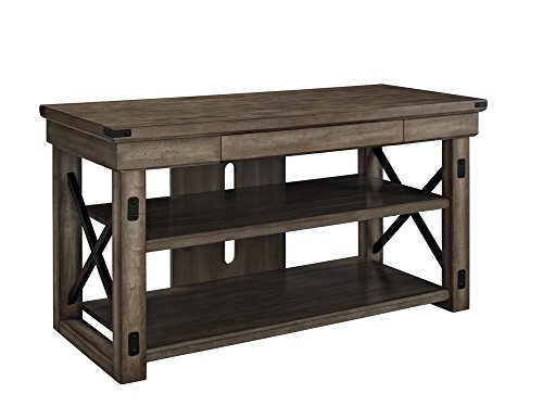 Altra Wildwood Wood Veneer 50″ TV Stand, Rustic Gray