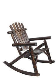 American Furniture Classics Log Rocking Chair, Burnt