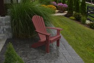 A&L Furniture Company Recycled Plastic Fanback Adirondack Chair