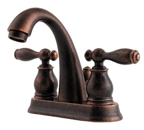 Pfister Unison 2-Handle 4″ Centerset Bathroom Faucet, Rustic Bronze