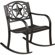 Mosaic Rustic Star Outdoor Patio Rocker