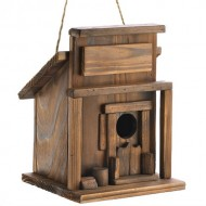 Gifts & Decor Rustic Fir Wood Western Saloon Bird House