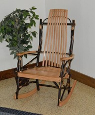 Rustic Hickory & Oak 9-Slat Rocker *Natural Finish* Amish Made USA