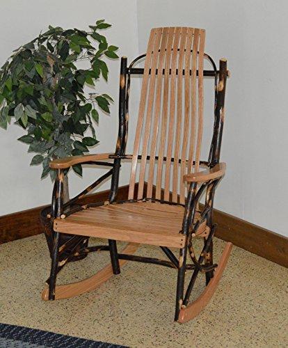 Rustic Hickory & Oak 9-Slat Rocker *Natural Finish* Amish Made USA