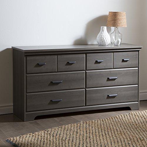 South Shore Versa 6-Drawer Double Dresser, Gray Maple