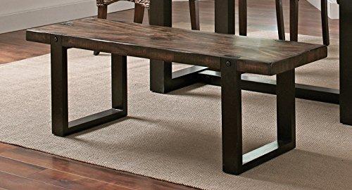 Coaster 121643 Home Furnishings Bench, Vintage Brown/Black