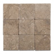 Seagrass / Rustic Green Limestone 4 X 4 Tumbled Field Tile – Box of 5 sq. ft.