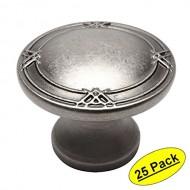 Cosmas 9462WN Weathered Nickel Cabinet Hardware Round Knob – 1-5/16″ Diameter – 25 Pack