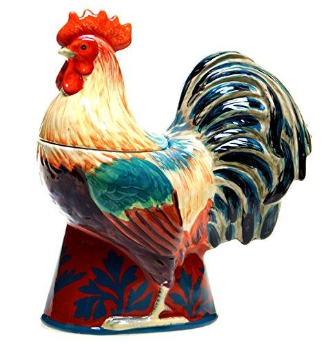 Certified International Rustic Rooster 3-D Cookie Jar, 11.75-Inch, Multicolor