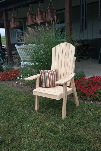 Outdoor Upright Adirondack Chair – PAINTED- Amish Made USA -Tropical Lime