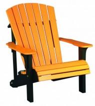 Deluxe Adirondack Chair – Poly – Tangerine & Black