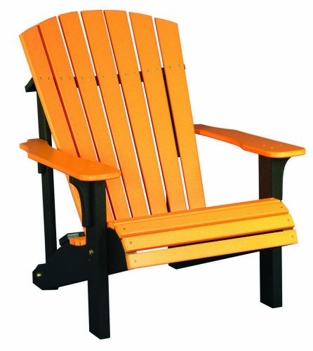 Deluxe Adirondack Chair – Poly – Tangerine & Black