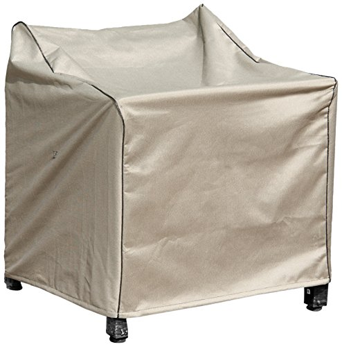 Budge English Garden Extra Small Outdoor Chair Cover P1A02PM1, Tan (31 H x 30 W x 27 D)