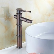 Hiendure® Antique Copper Finish Bathroom Sink Faucet, Rustic Bronze