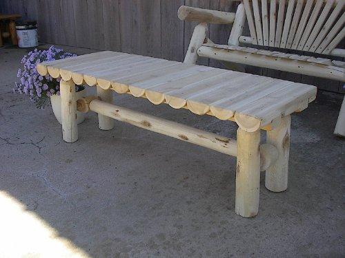 White Cedar Log Coffee Table – 4 foot