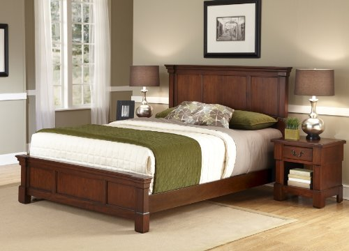 Home Styles The Aspen Collection  King Bed and Night Stand