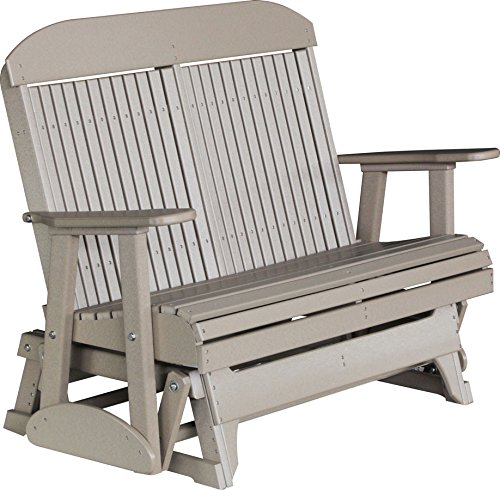 Outdoor Polywood 4 Foot Porch Glider – Classic Highback Design *WEATHERWOOD* Color