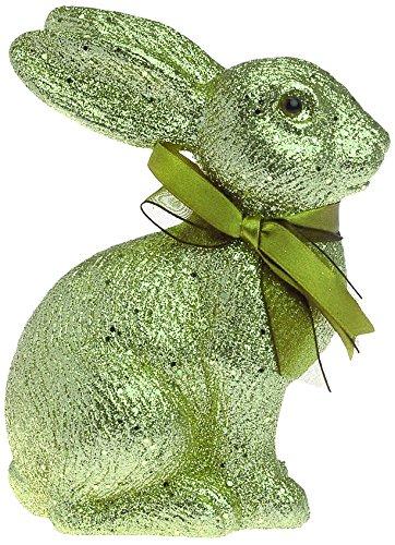 Boston International Glitter Sitting Bunny, Green
