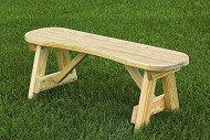 Pressure Treated Pine 42″ Curved Seat Bench Amish Made USA- Unfinished