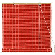 Oriental Furniture Bamboo Roll Up Blinds – Red – (36 in. x 72 in.)